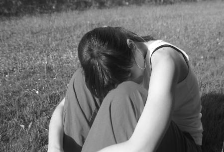 Frau einsam